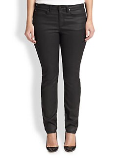 Eileen Fisher, Sizes 14-24 - Waxed Skinny Jeans