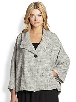 Eileen Fisher, Sizes 14-24 - A-Line Jacket