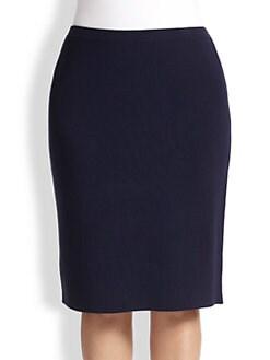 Eileen Fisher, Sizes 14-24 - Knee-Length Straight Skirt