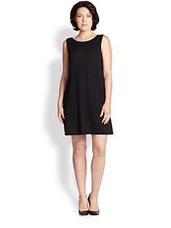 Eileen Fisher, Sizes 14-24 - Wool A-Line Dress