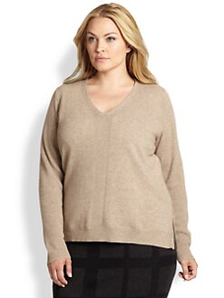 Eileen Fisher, Sizes 14-24 - Cashmere Side-Zip Top