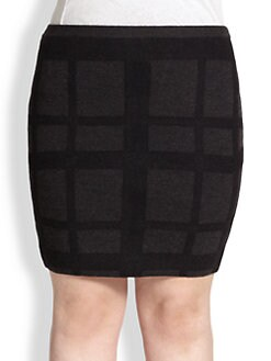 Eileen Fisher, Sizes 14-24 - Felted Plaid Skirt