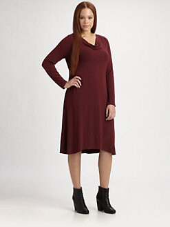Eileen Fisher, Salon Z - Jersey Draped Dress