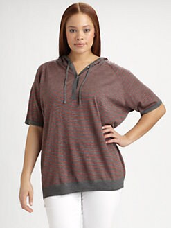 Eileen Fisher, Salon Z - Hooded Merino Wool Sweater