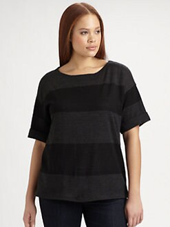 Eileen Fisher, Salon Z - Wide Striped Merino Wool Sweater