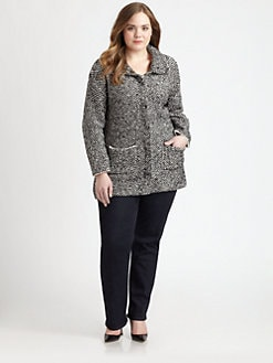 Eileen Fisher, Salon Z - Stand-Collar Jacket