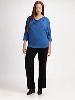 Eileen Fisher, Salon Z - Draped-Neck Top
