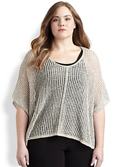 Eileen Fisher, Salon Z - Linen Mesh Top
