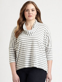 Eileen Fisher, Salon Z - Striped Cowlneck Top