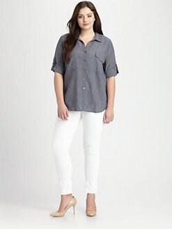Eileen Fisher, Salon Z - Breezy Chambray Blouse