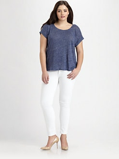 Eileen Fisher, Salon Z - Linen MelangeTee