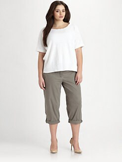 Eileen Fisher, Salon Z - Linen/Cotton Slub Top
