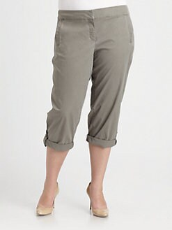 Eileen Fisher, Salon Z - Washed-Twill Capri Pants