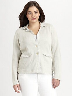 Eileen Fisher, Salon Z - Notched-Collar Ribbed Jacket