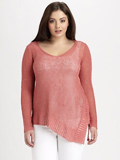 Eileen Fisher, Salon Z - V-Neck Knit Top