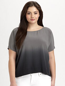 Eileen Fisher, Salon Z - Silk Ombre Top