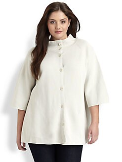 Eileen Fisher, Salon Z - Silk/Cotton Knit Jacket