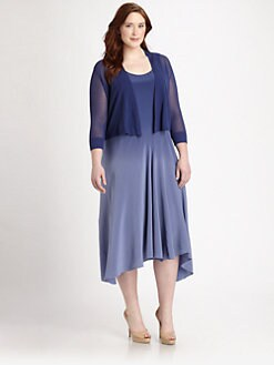 Eileen Fisher, Salon Z - Sheer Cropped Carddigan