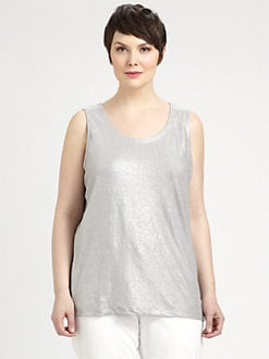 Eileen Fisher, Salon Z - Shimmering Linen Tank Top