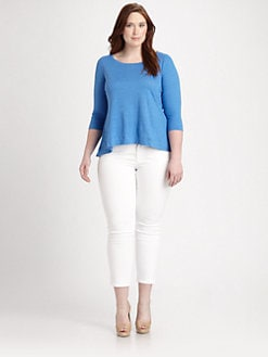 Eileen Fisher, Salon Z - Linen Knit Swing Tee