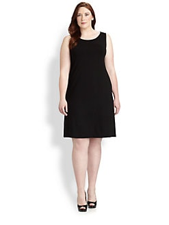 Eileen Fisher, Sizes 14-24 - Sleeveless Jersey Dress