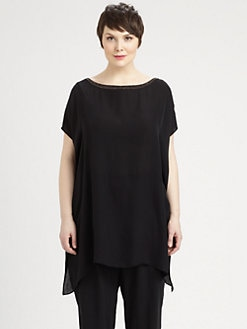 Eileen Fisher, Salon Z - Beaded Silk Tunic