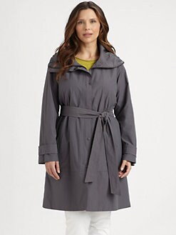 Eileen Fisher, Salon Z - Funnel-Neck Coat