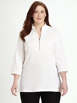 Eileen Fisher, Salon Z - Stand-Collar Tunic