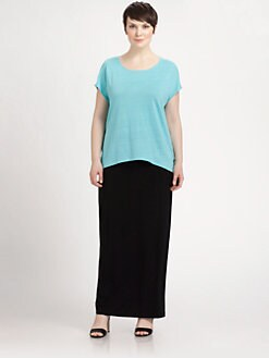 Eileen Fisher, Salon Z - Linen Cap-Sleeve Tee