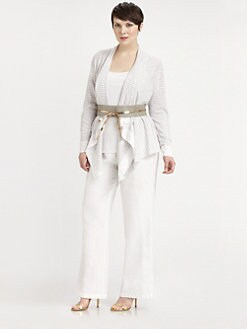 Eileen Fisher, Salon Z - Linen/Cotton Cascading Cardigan