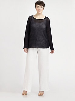 Eileen Fisher, Salon Z - Linen Mesh Sweater