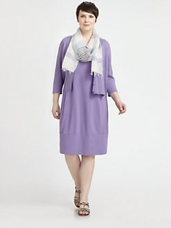 Eileen Fisher, Salon Z - Cropped Linen Cardigan