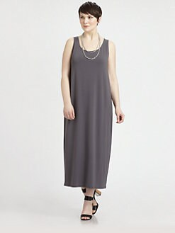 Eileen Fisher, Salon Z - Scoopneck Oval Dress
