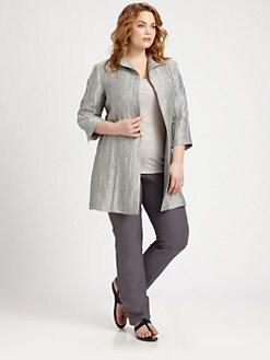 Eileen Fisher, Salon Z - High-Collar Jacket