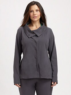 Eileen Fisher, Salon Z - High-Collar Shaped Jacket