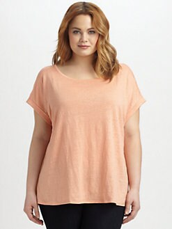 Eileen Fisher, Salon Z - Linen Jersey Tee