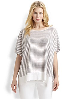 Eileen Fisher, Salon Z - Striped Linen Boxy Top
