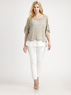 Eileen Fisher, Salon Z - Scalloped-Hem Dolman Top