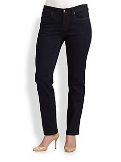 Eileen Fisher, Salon Z - Soft-Stretch Straight-Leg Jeans