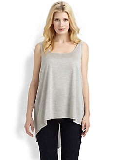 Eileen Fisher, Salon Z - Silk-Back Tank Top