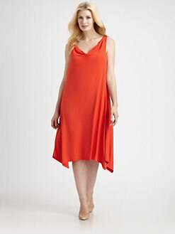 Eileen Fisher, Salon Z - Drapeneck Knit Dress