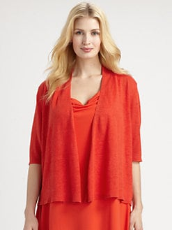 Eileen Fisher, Salon Z - Linen Knit Boxy Cardigan