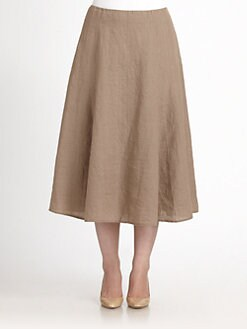 Eileen Fisher, Salon Z - Irish Linen Two-Way Skirt