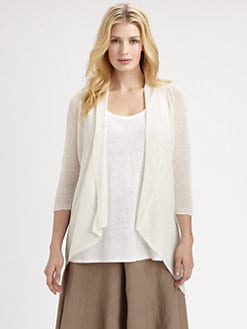 Eileen Fisher, Salon Z - Linen-Blend Cardigan Sweater