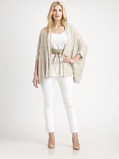 Eileen Fisher, Salon Z - Open-Front Boxy Cardigan