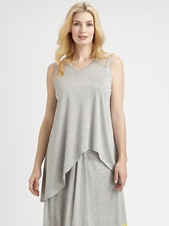 Eileen Fisher, Salon Z - Silk/Cotton Asymmetrical Tank