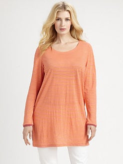 Eileen Fisher, Salon Z - Irish Linen Striped Tunic Top