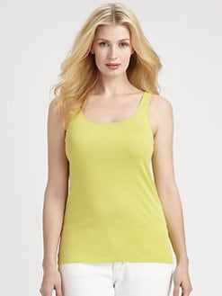 Eileen Fisher, Salon Z - Organic Cotton Slim Tank Top