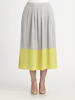 Eileen Fisher, Salon Z - Silk/Cotton Pleated Skirt
