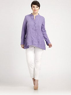 Eileen Fisher, Salon Z - Crinkled Linen Shirt